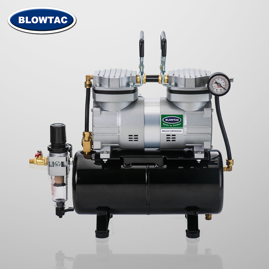 Double cylinders Mini Air Compressor with Tank with Tank