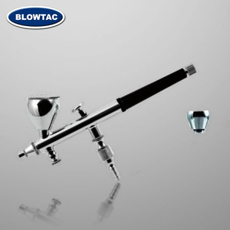 Double Action gravity-feed Airbrush with air control valve