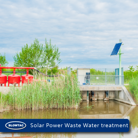 Solar Power Waste Water treatment aeration