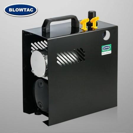 Mini compresor de aire monocilíndrico con depósito y tapa