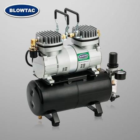 Dwucylindrowa mini sprężarka powietrza ze zbiornikiem