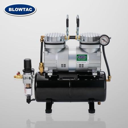 Mini Compressor de Ar de Cilindro Duplo com Tanque