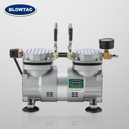 Dwusilnikowy mini kompresor powietrza