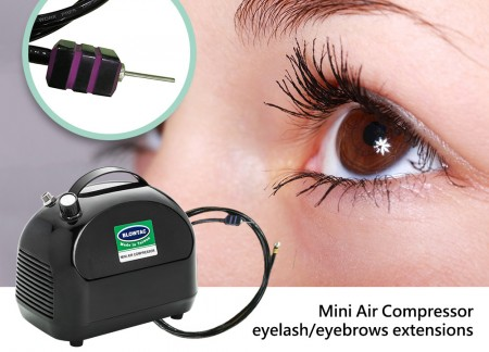 Mini Air Compressor + extensiones de cejas de pestañas