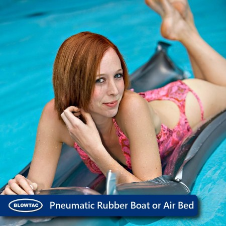 Pneumatic rubber boat or air bed.
