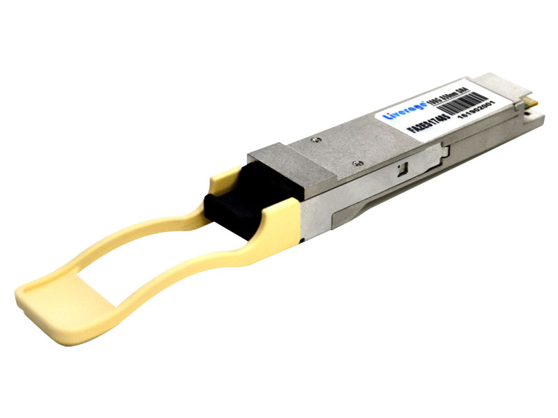 QSFP28 is a parallel 100G quad small form-factor pluggable optical module.