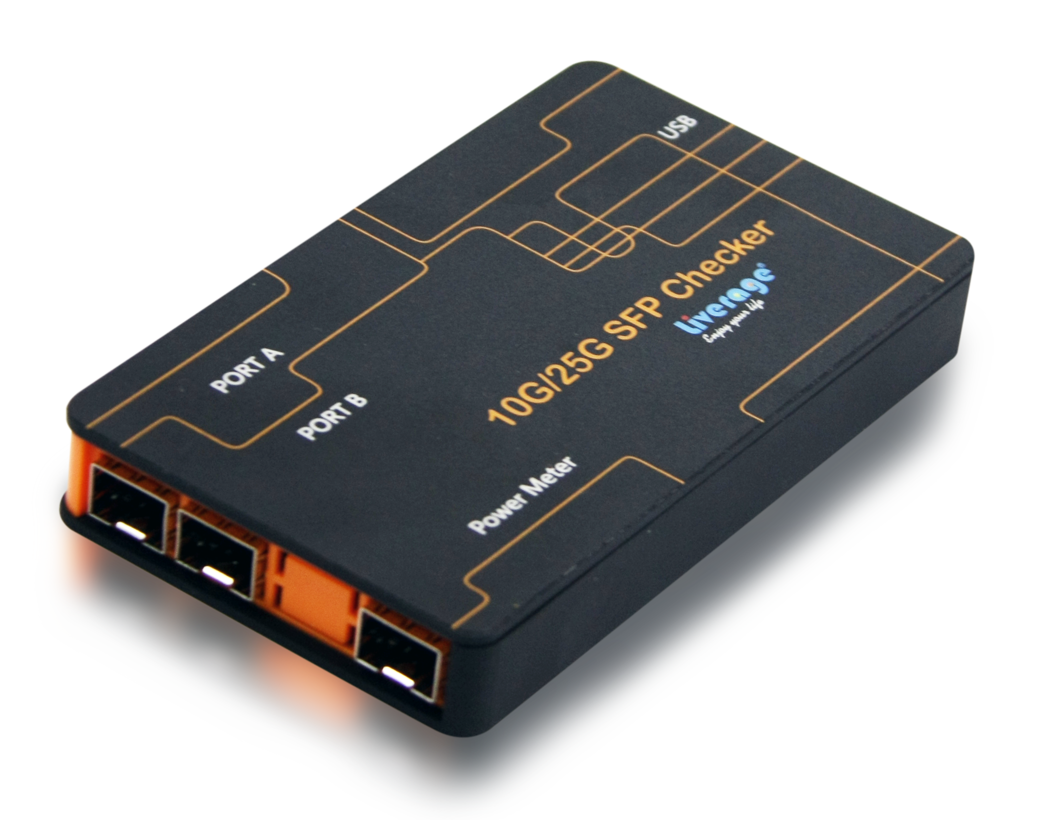 10G SFP+ Checker can measure optical power, read internal memory EEPROM and monitor the DDM information.