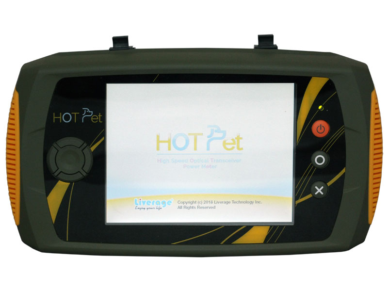 HOT Pet is designed for 40 Gbps ~ 100 G optical networking power meters.