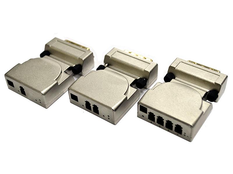 DVI Extender передает сигналы DVI на большие расстояния через одномодовое или многомодовое волокно.