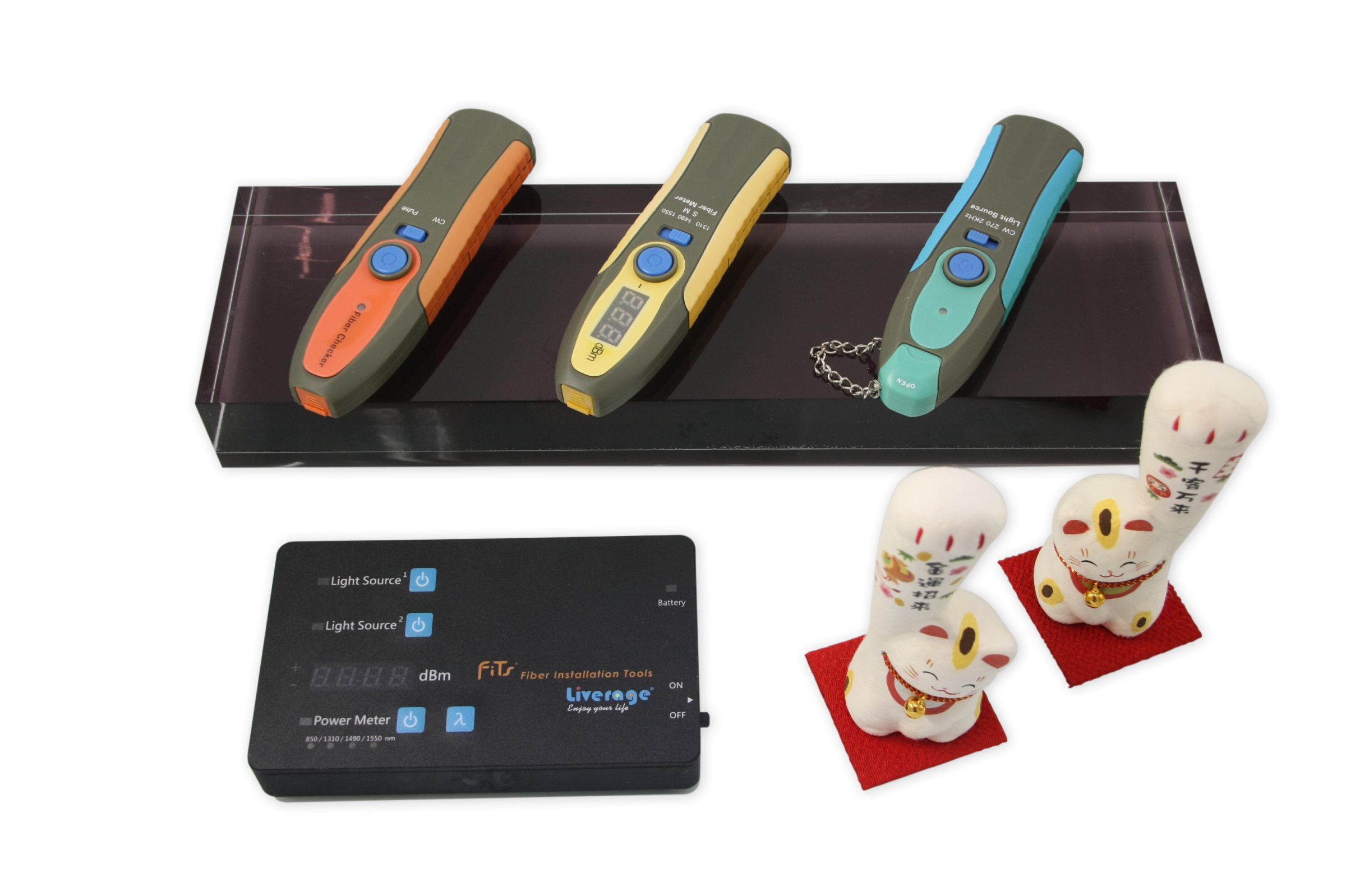 Optical testing tool are tools for testing optical fiber functions.