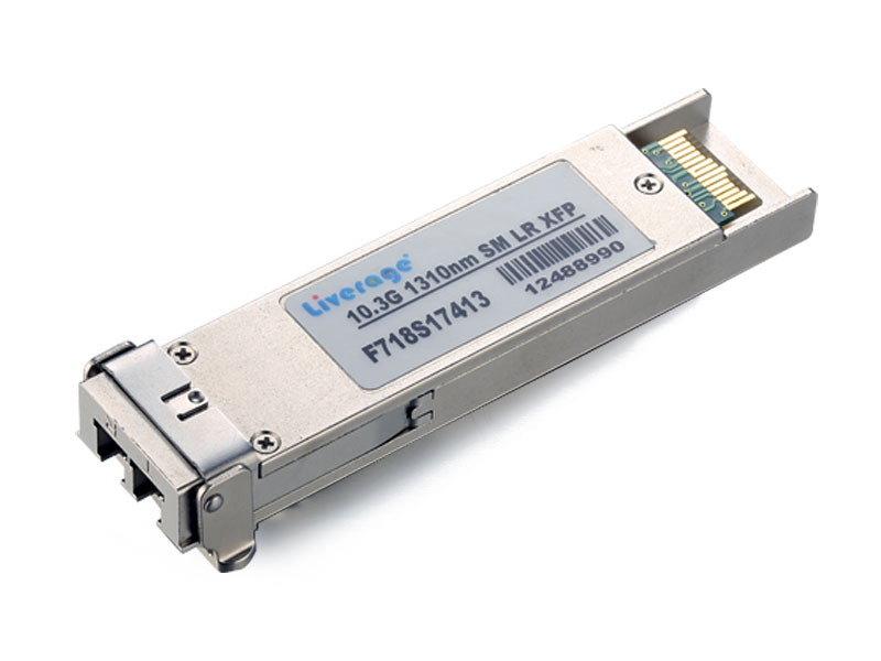 The XFP is a transceiver for high-speed computer network and telecommunication links that use optical fiber.