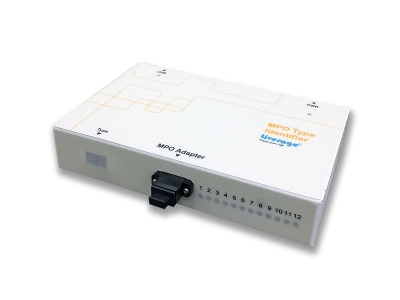 MPO Polarity Identifier, going with MPO Tester, is used to check the type of MPO cable.