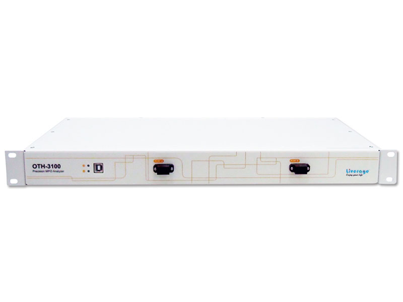 OTH 3100 can measure MPO patch cord with adjustable optical power.