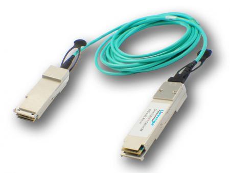 AOC y DAC - El cable óptico activo se puede definir como un cable puente de fibra óptica terminado con transceptores ópticos en ambos extremos.