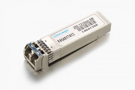 Transceiver SFP28 - Nadajnik-odbiornik SFP28 to wtykowy moduł o niewielkich rozmiarach do dwukierunkowej szeregowej optycznej komunikacji danych, takiej jak Ethernet 25G i opcja CPRI 10.