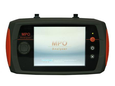 MPO insertion loss and polarity type analyzer - MPO Analyzer can measure insertion loss of MPO patch cord and record 300 testing data.