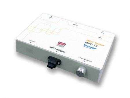 Probador de defectos MPO con luz láser roja visible de 650 nm - MPO Tester puede verificar los defectos del cable o conector de fibra en matriz MPO.