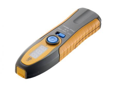Medidor de energia Bluetooth - O medidor de potência verifica a potência de saída do sinal do equipamento de comunicação óptica em redes de fibra óptica.