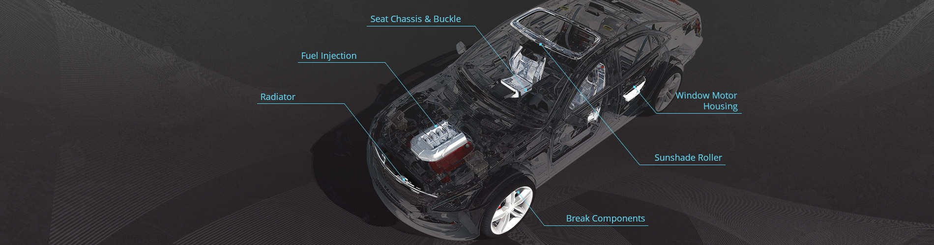 Automobil Gestempelt Teile
