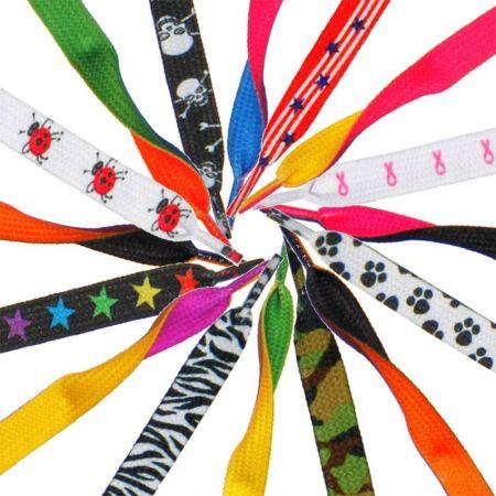 Шнурки на заказ - Изготовленные на заказ шнурки с принтом