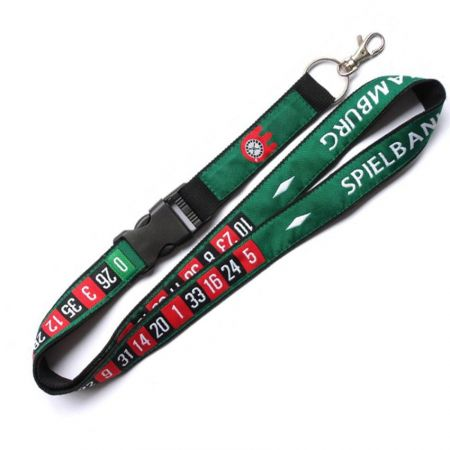 Double Layers Promotional Lanyards - High quality double layers lanyards comes in two layers of material.