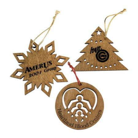 Custom Christmas Wooden Ornaments - Personalised wooden christmas decorations