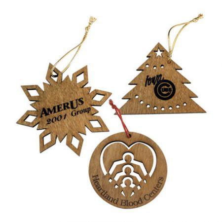 カスタムクリスマス木製装飾品 - パーソナライズされた木製のクリスマスデコレーション