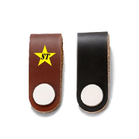 Leather Drawer Pulls - Custom Leather Drawer Pulls