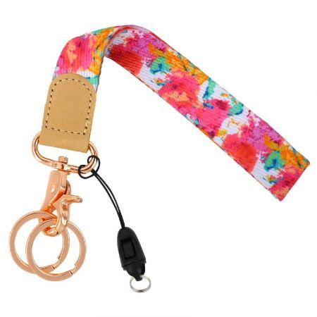 Wristlet strap lanyard keychain holder - Wristlet strap lanyard keychain holder maker