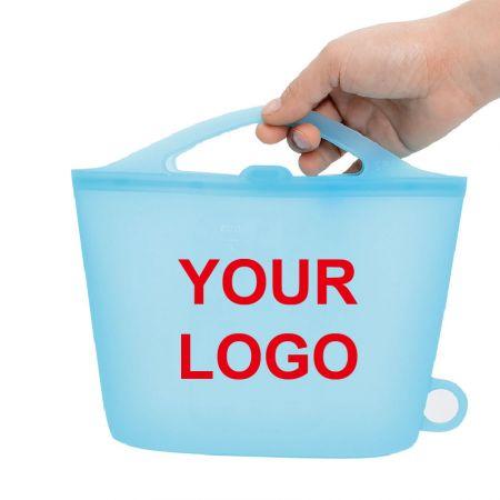 LOGOs Silikonförvaringsväska - Anpassad bärbar silikonförvaringsväska för mat