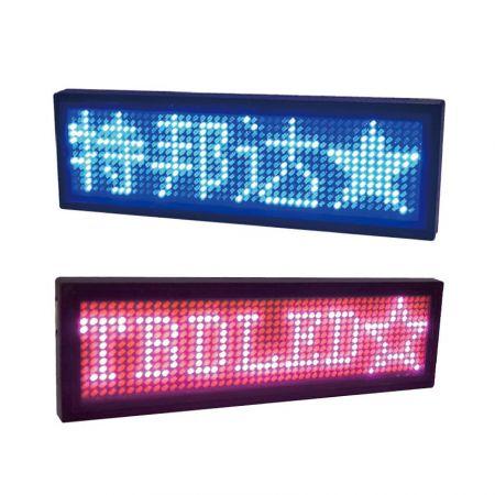 LEDネームバッジ - LEDライトアップバッジ