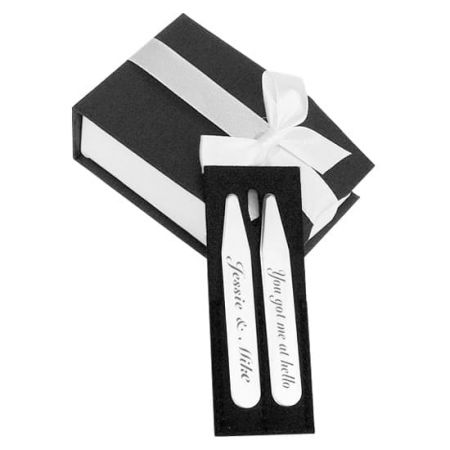 Collar Stays - Custom your personalized metal collar stays.
