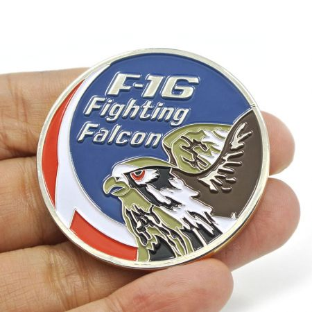 Military Challenge Coins - We are a F-16 Fighting Falcon souvenir coins supplier.
