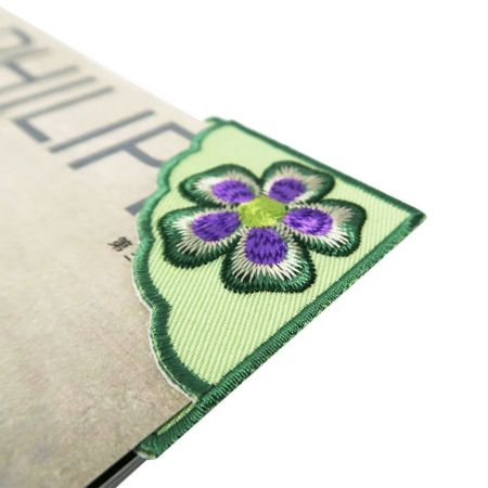 Embroidered Corner Bookmark - Custom embroidery corner bookmark makes fantastic gifts for the readers.