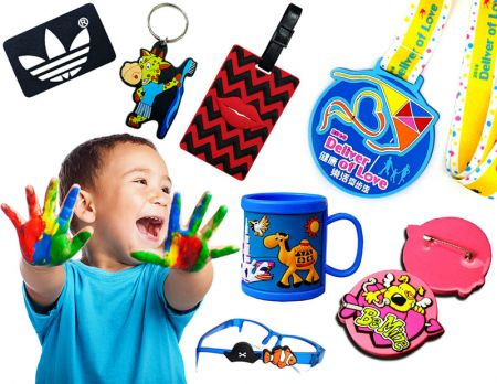 Custom Soft PVC Products as Promotional Gifts.