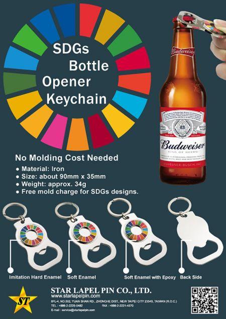 SDGs Bottle Opener Keychains.