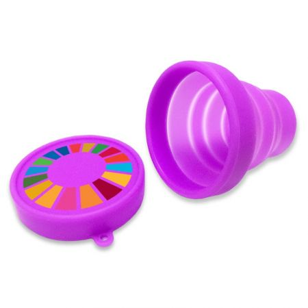 Custom Silicone Foldable Cup - Custom foldable cup to contribute efforts for earth.