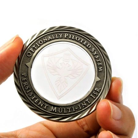 Commemorative Coin with Crystal