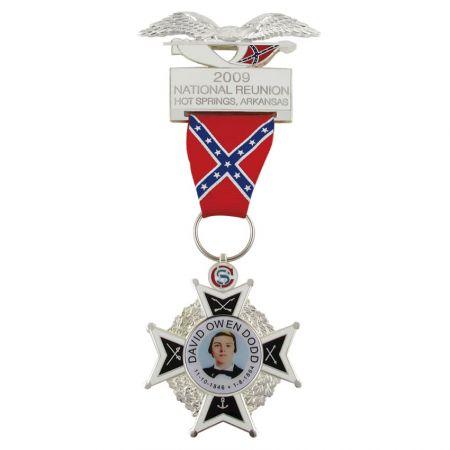 Medals with Short Ribbon Drape - Custom medals with short ribbon drape are our strengths.