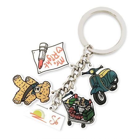 Printed Keychains - Custom printed keychains are a popular choice for business gifts.