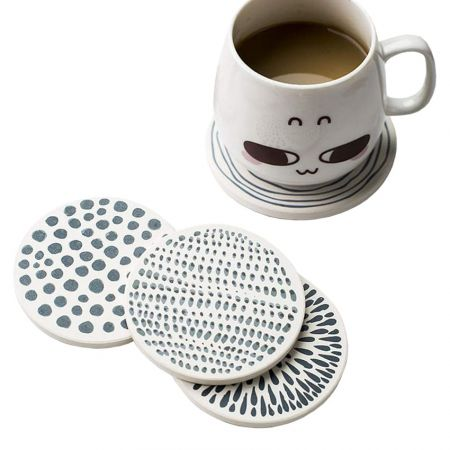 Diatomite Coasters - The diatomite coasters are adorable and stylish.