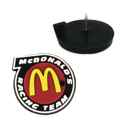 PVC Lapel Pins - The soft PVC lapel pins will expand its own value higher.
