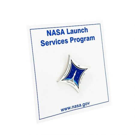 Custom Metal Lapel Pin - The NASA lapel pin is perfect for space lovers and fans of NASA.