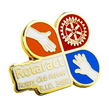 Индивидуальный поворотный штифт - Покажите свою гордость как ротарианца с помощью наших высококачественных вращающихся значков на лацкане.