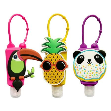 Silicone Hand Sanitizer Holder - The silicone hand sanitizer holder is perfect for kids to hang on bag.