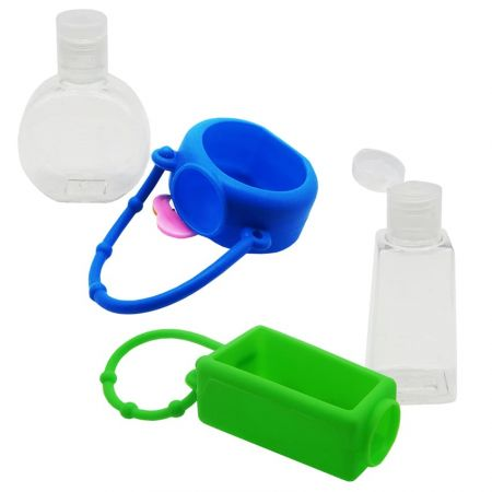 Silicone hand sanitizer holder is easy to store and carry.