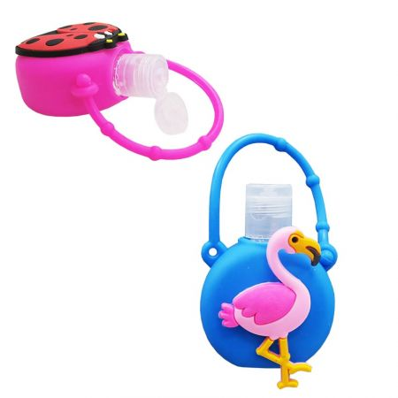 Silicone hand sanitizer holder is perfect for adults to carry and store.