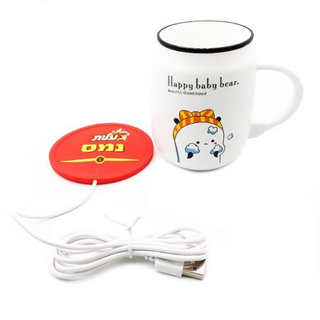 USB Heating Coaster - The usb heated coaster's function is keeping your drinks warm.