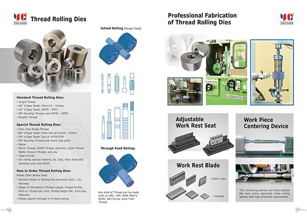 Thread Rolling Machines e-Catalog | Yieh Chen Machinery Co