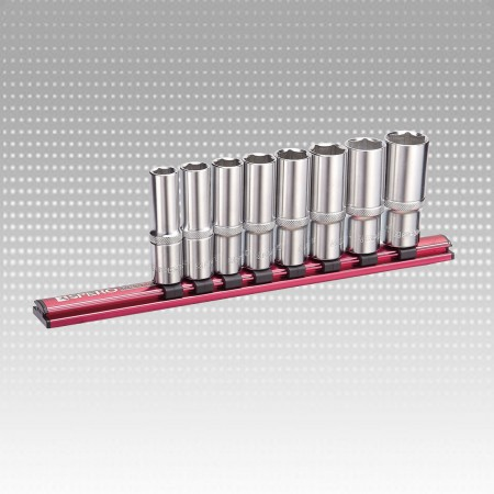 "8 szt. 1/2 ""Dr. DEEP SOCKET RAIL M / M Set-6PT - 8 szt. 1/2 ""Dr. DEEP SOCKET RAIL M / M Set-6PT"